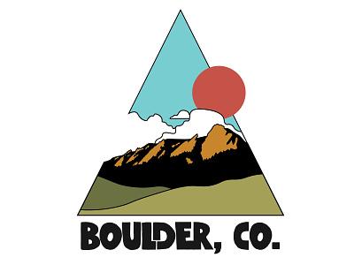 Boulder, CO geometric illustration triangle flat irons colorado boulder identity lettering illustrator flat minimal logo vector typography illustration design