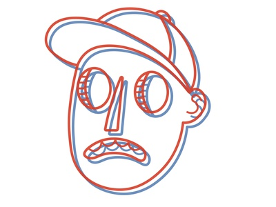 New Headshot branding identity flat illustrator minimal logo vector illustration design avatar 3-d profile picture