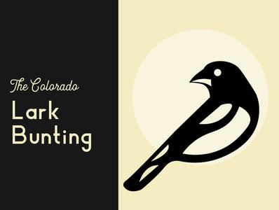 The Colorado Lark Bunting bunting lark birds wingspan magpie bird illustration state bird colorado lark bunting bird art lettering illustrator flat minimal vector illustration design
