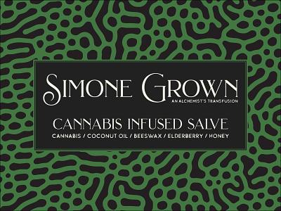 Simone Grown Product Design - Cannabis Slave typelogo type illustrator design green cbd cannabis packaging typography cannabis branding logo branding cannabis