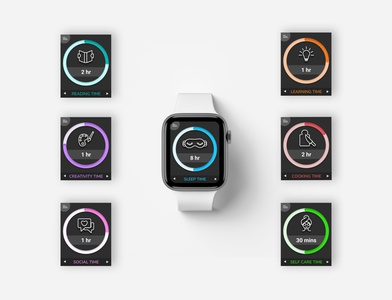 Darkmode UI icon set apple watch watchapp app ux visual design uidesign uxdesign dailyui