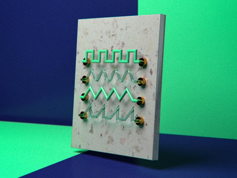 Sound Waves website app branding animation design art minimal c4d abstract 3d