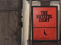 The Hateful Eight minimalist Poster