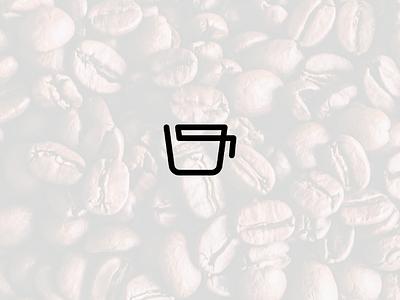 Coffee cup modern project illustrator geometric lines flat branding logomark logo cup coffee icon design minimalism minimal icon