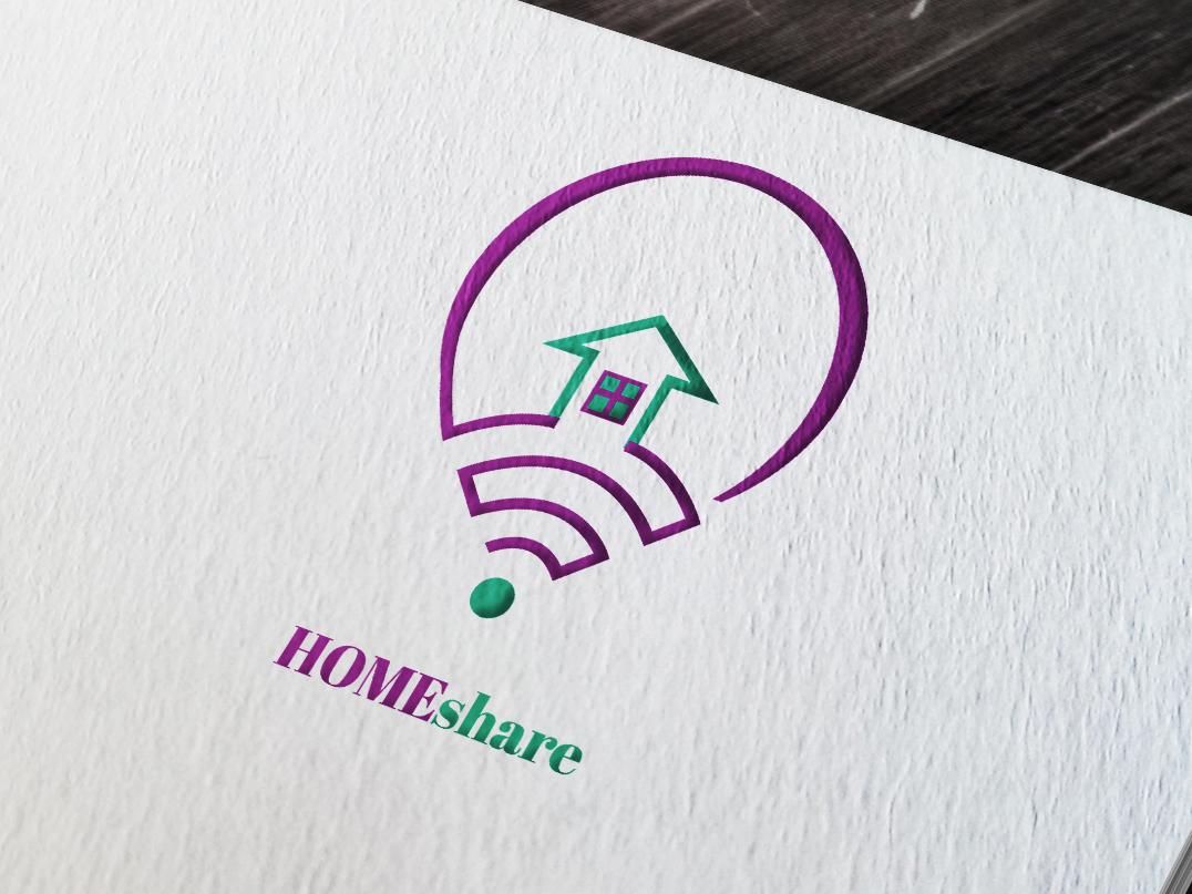 HOMEshare logo design logogram iconography flatdesign flatlogo icon branding adobe illustrator logos graphicdesign typography illustration illustrator logoproject logodesign logodesigner logotype vector logomark