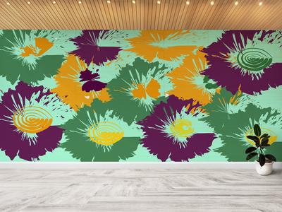 Flower Pattern Wall