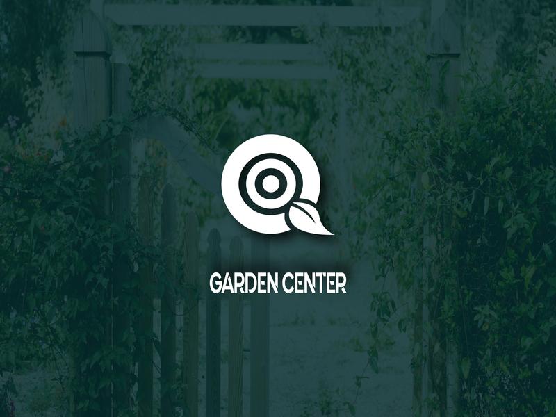 Garden Center Logo minimal adobe modernlogo flatlogo symbols logomarks visual identity branding typography logos logoproject logotype logodesign illustrator logomark vector