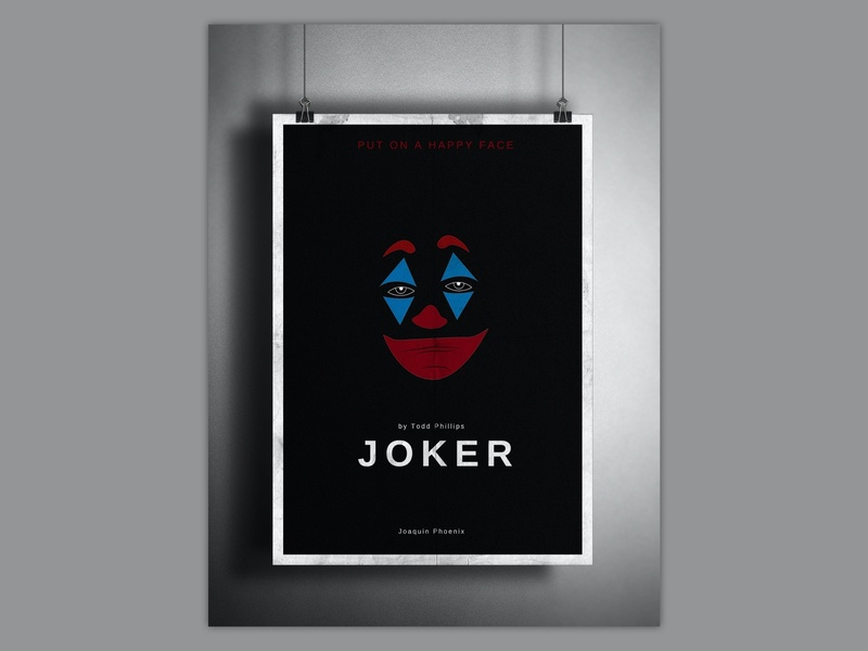 JOKER - Film Poster film photography photoshop adobe photoshop adobe illustrator adobe film poster design poster design poster art illustration art illustration illustrator ai happy face put on a happy face film poster poster filmposter film joker movie joker