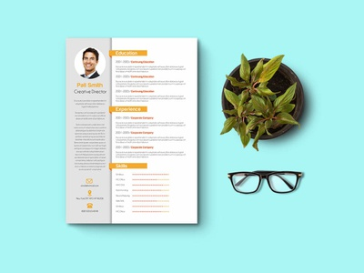 Free Creative CV/Resume and  Cover Letter Template