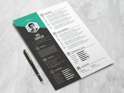 Free Modern General CV and Resume Template