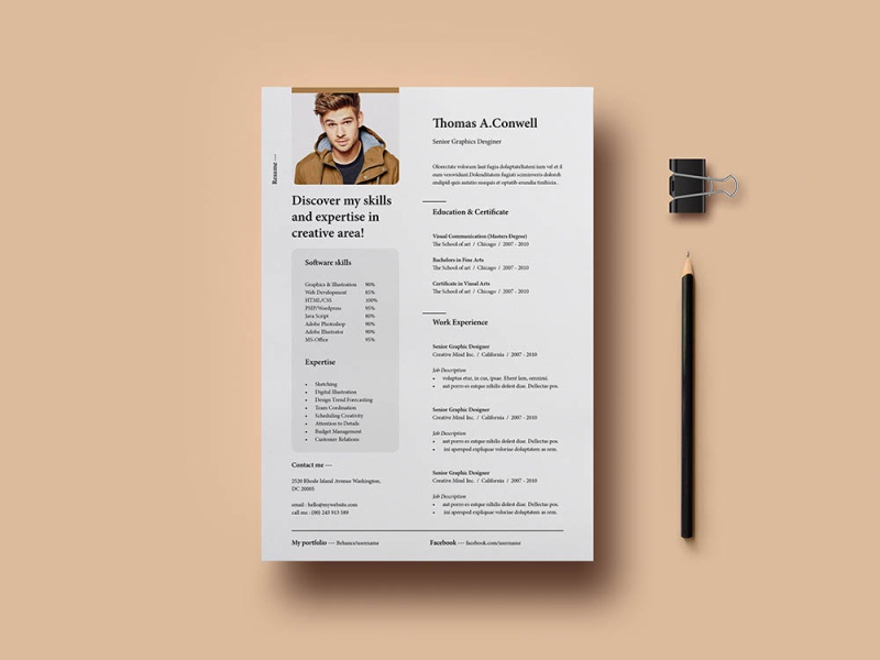 Free Professional Resume Template By Julian Ma On Dribbble