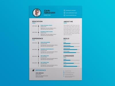 Free Blue Vector Resume Template free free cv template design free resume template freebies freebie cv template curriculum vitae resume cv