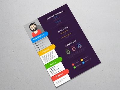 Free Stylish Colorful Resume template free cv template design free resume template freebies freebie cv template curriculum vitae resume cv