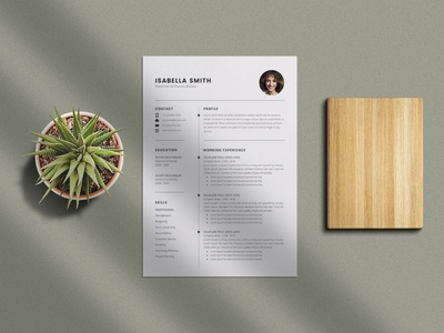 Free Simple 3 Pages Resume Template branding free free cv template design free resume template freebies freebie cv template curriculum vitae resume cv