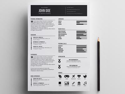 Free Minimal Designer Resume Template free free cv template design free resume template freebies freebie cv template curriculum vitae resume cv