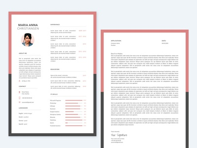 Free Sketch Resume Template + Cover Letter free free cv template design free resume template freebies sketch resume freebie cv template curriculum vitae resume cv