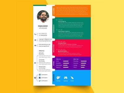 Free Colorful Resume Template branding free free cv template design curriculum vitae free resume template freebie freebies cv template resume cv