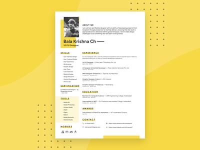 Free Adobe XD Resume Template free cv template design free resume template freebies adobe xd adobe xd resume freebie cv template curriculum vitae resume cv