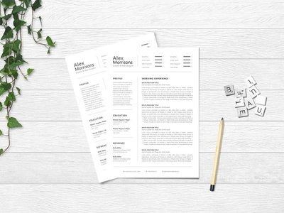 Free Minimal Word Resume Template with Matching Cover letter website minimal cv template free free cv template free resume template curriculum vitae doc template cover letter word resume doc word freebie freebies branding resume design cv