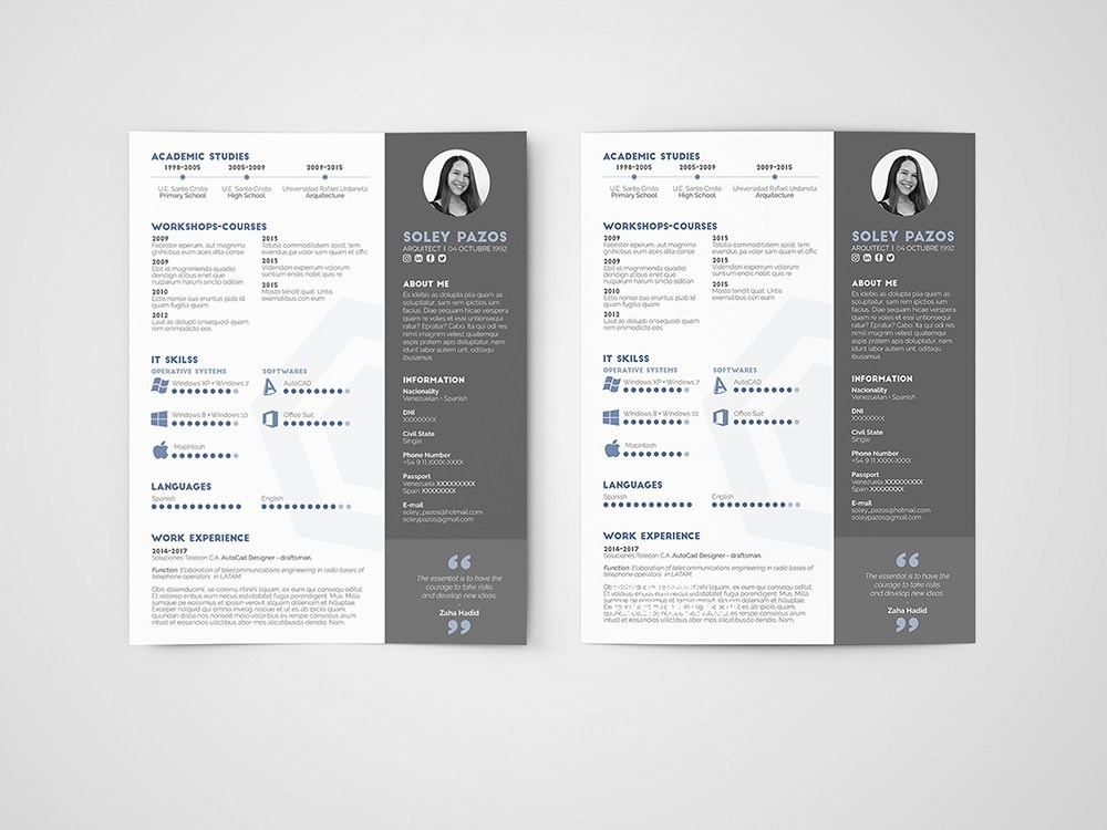 free architect cv  resume template by julian ma on dribbble