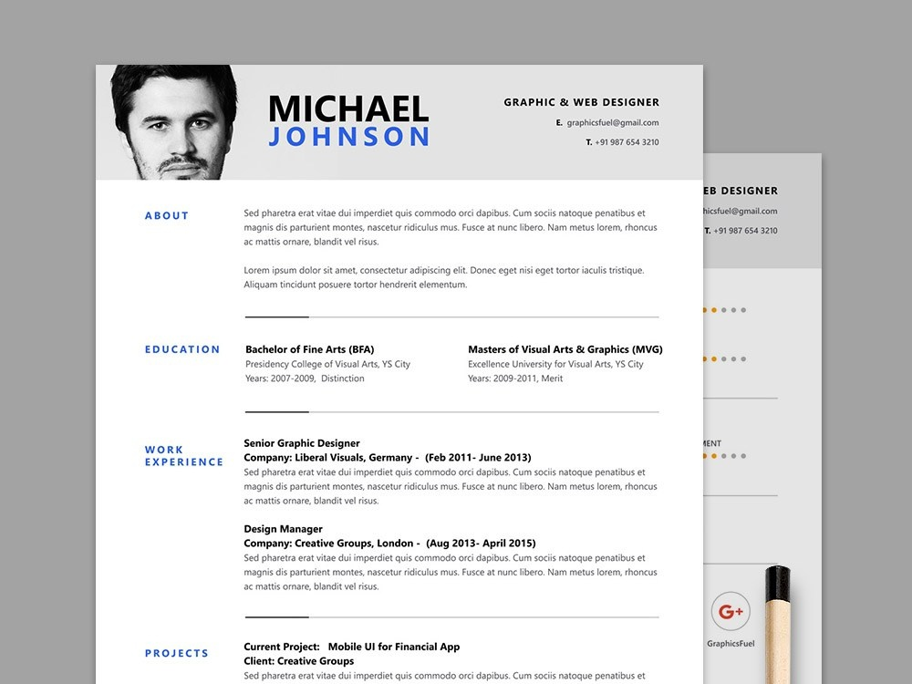 Free Clean And Modern Resume Template By Julian Ma On Dribbble