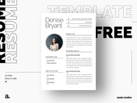 Free Simple Illustrator Resume Template