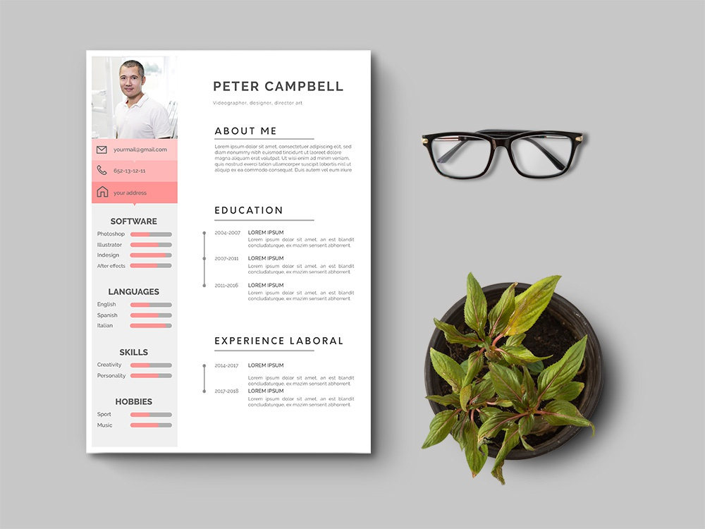 Free Clean Illustrator Resume Template elegant clean minimal branding free resume template free cv template freebies freebie free cv template curriculum vitae resume design cv