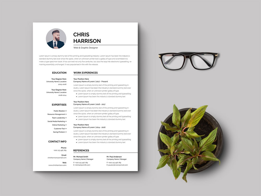 Free Simple Curriculum Vitae Template psd resume word photoshop resume doc template doc word resume psd minimal cover letter branding free resume template free cv template freebies freebie free cv template curriculum vitae resume design cv