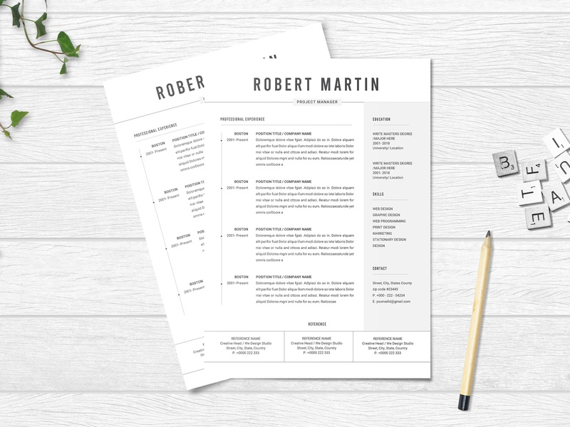 Free MS Word Resume Template by Julian Ma on Dribbble