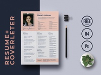 Free PSD Resume Template + Cover Letter