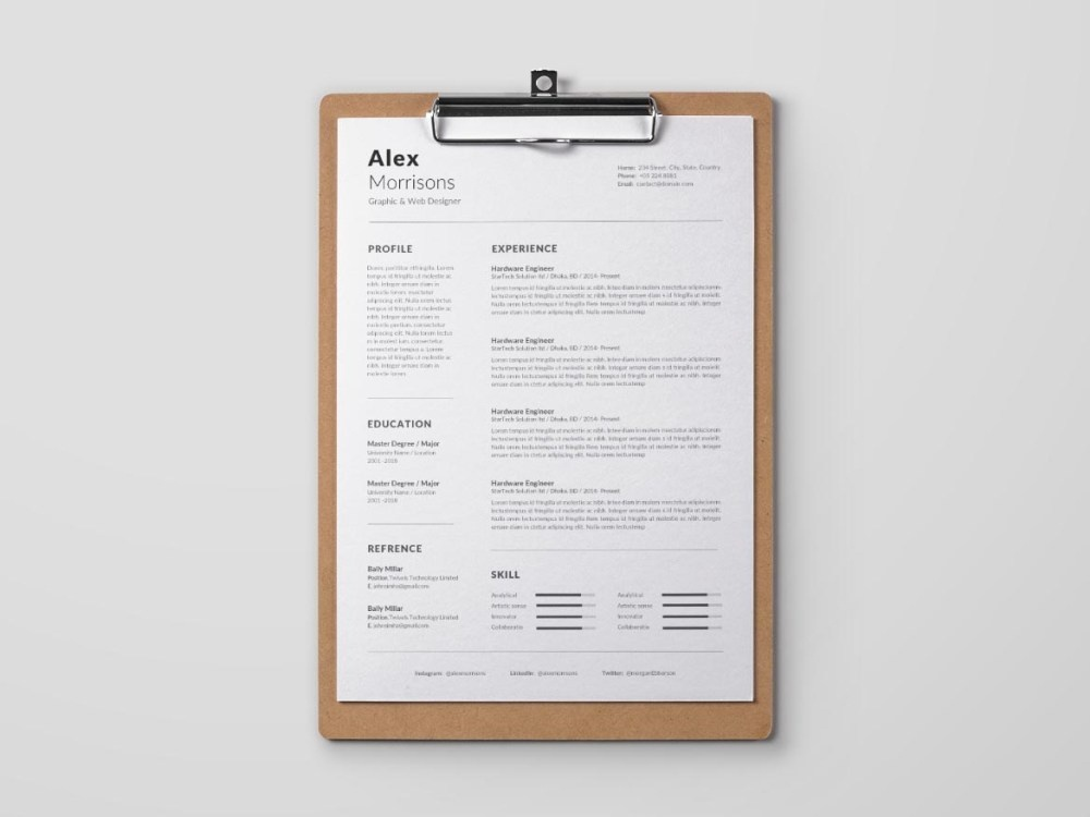 Free MS Word template with cover letter page by Julian Ma on ...