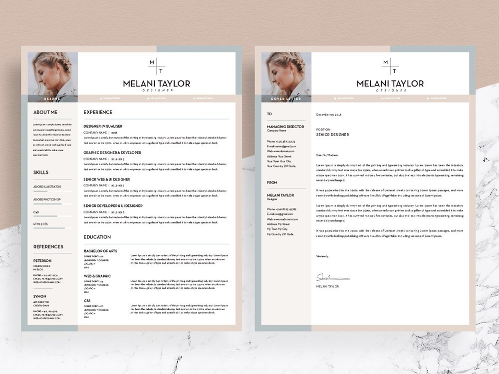 free feminine resume template by julian ma on dribbble