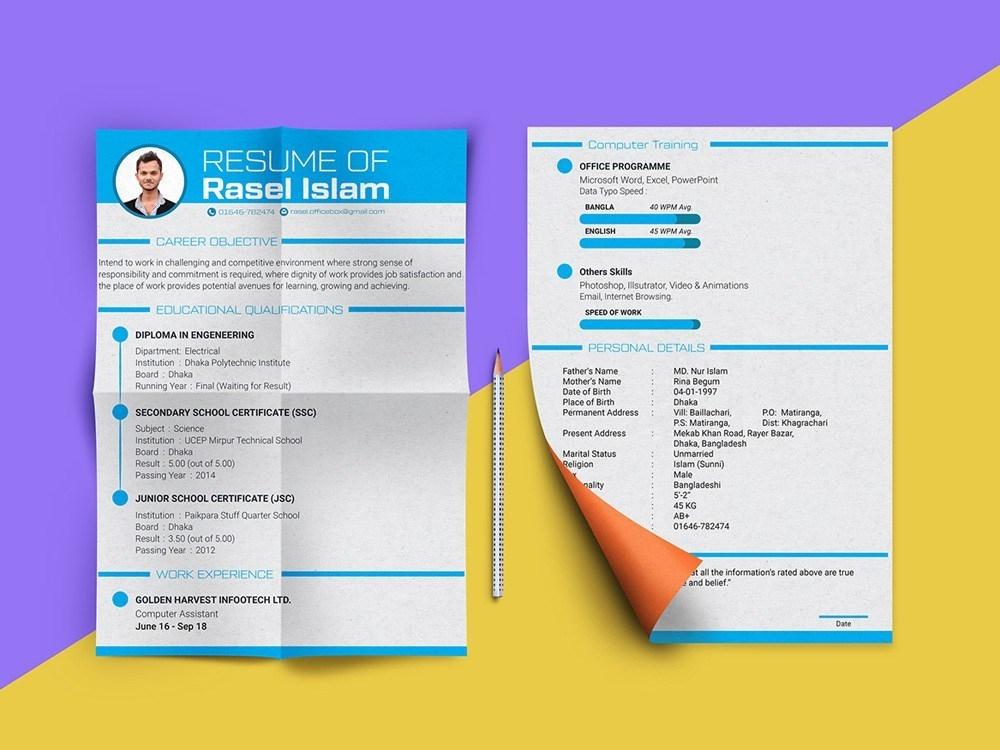 Free Engineering Resume Template by Julian Ma on Dribbble