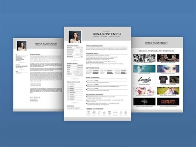 Free Teacher Resume Template With Cover Letter And Portfolio