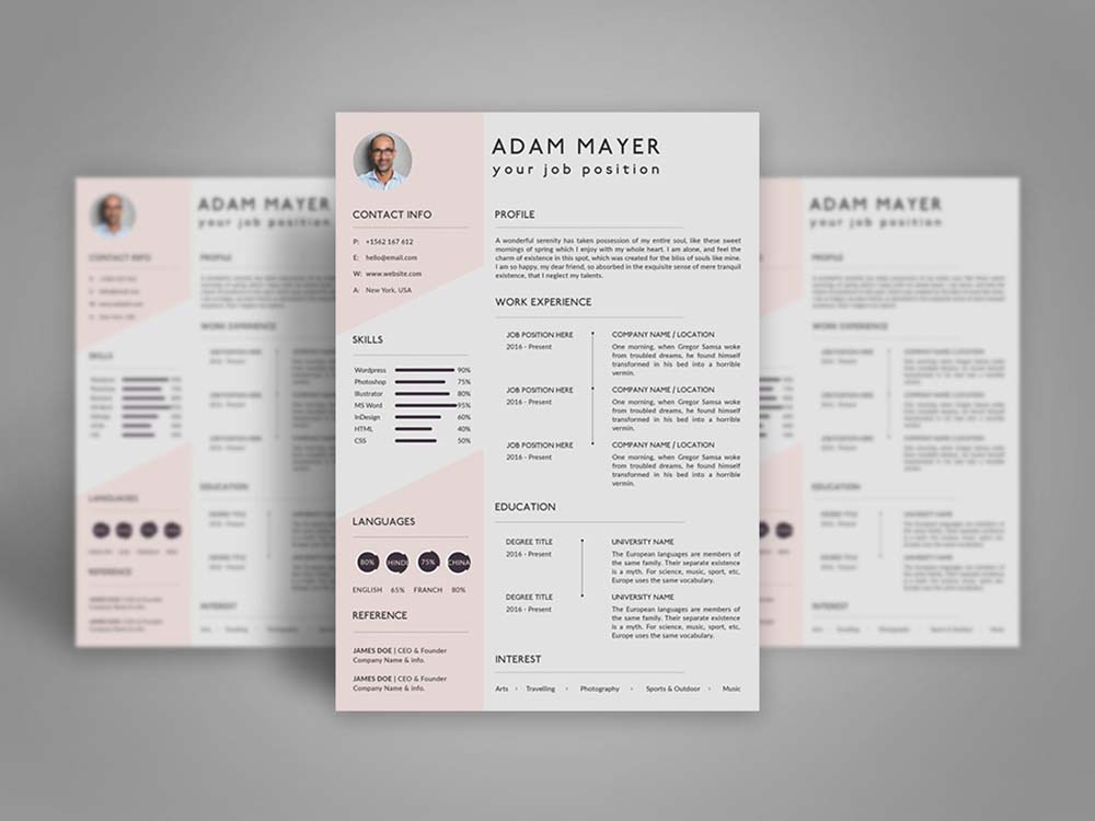 Free Universal Resume Template branding free resume template free cv template freebies freebie free cv template curriculum vitae resume design cv