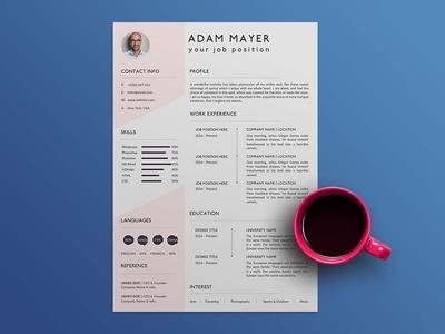 Free Universal CV/Resume Template