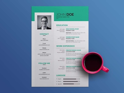 Free Simple Vector Resume Template