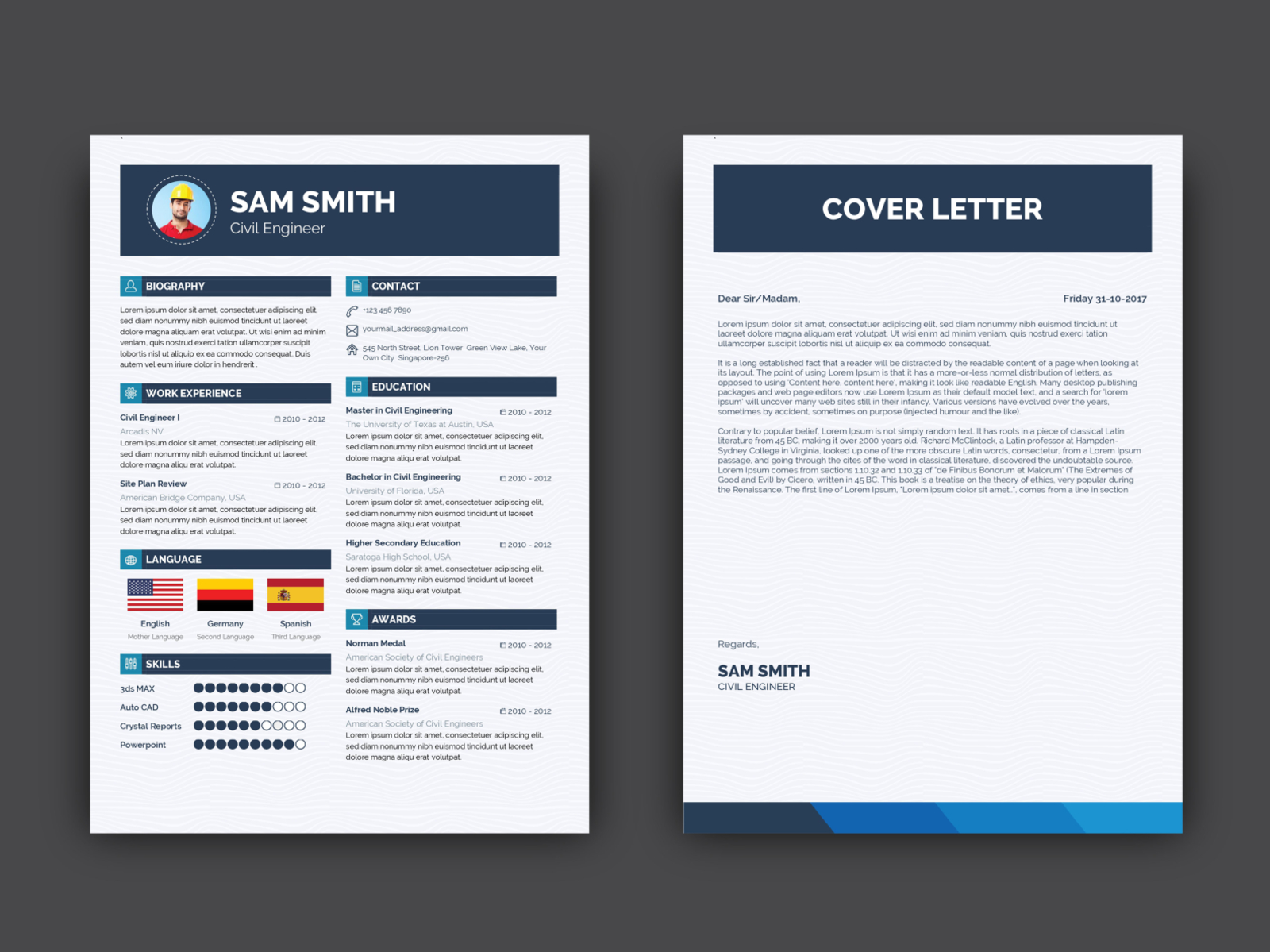 Free Engineer Resume Template with Cover Letter by Julian Ma ...