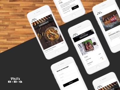 Phil's BBQ - California Restaurant - App Screens