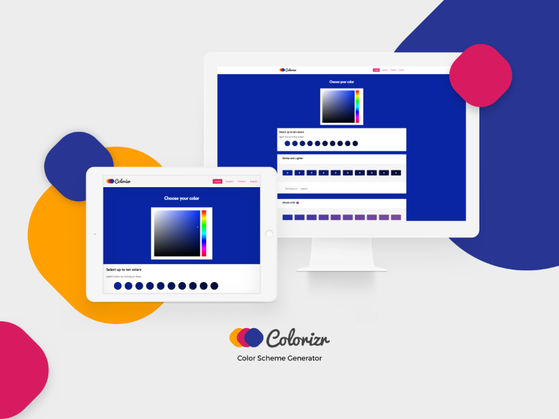 Colorizr - Color Scheme Generator - Design Concept by Ruslan