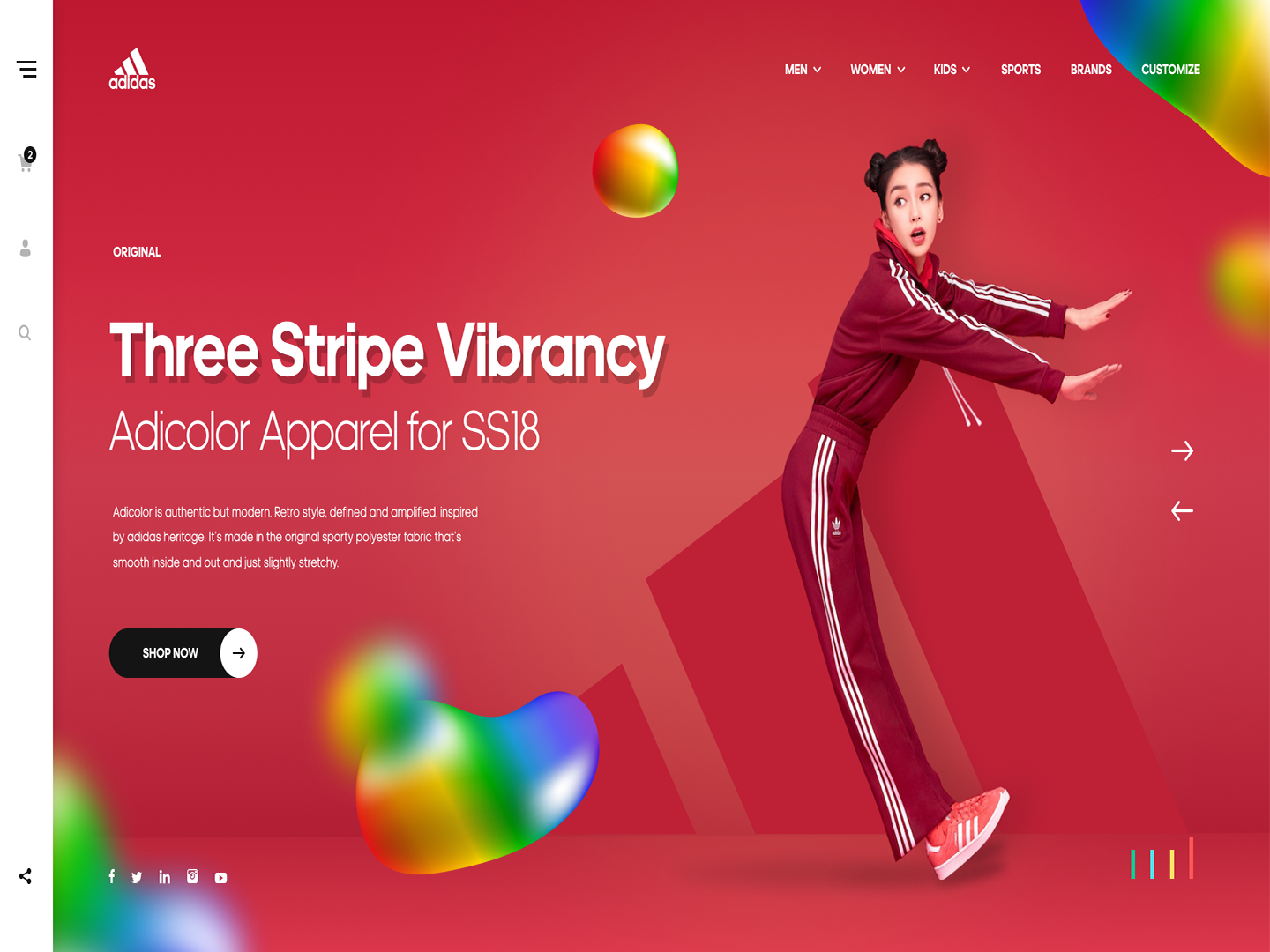 Red dribbble