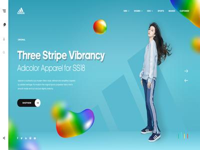 Adidas - Branding - Web Concept