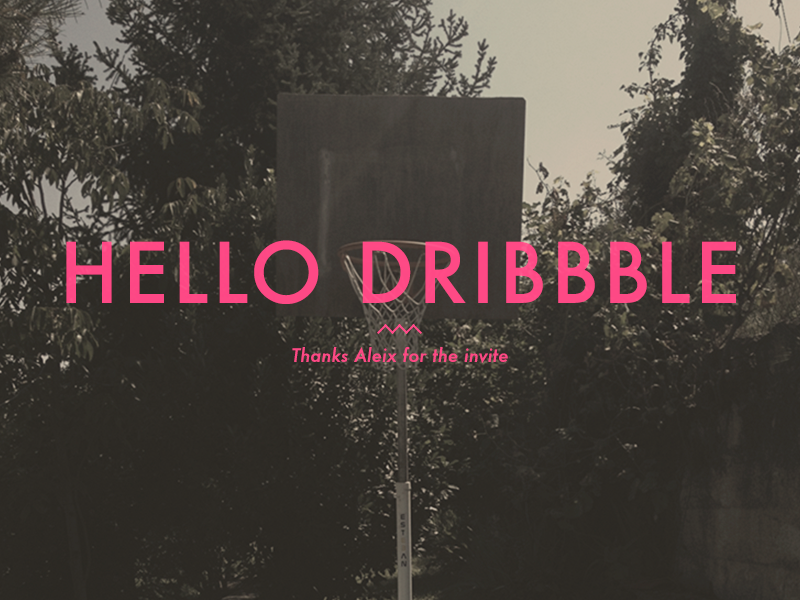 hello dribbble. debuts invite dribbble
