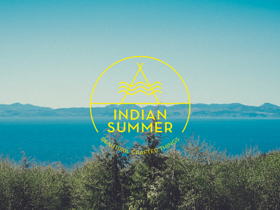 Indian Summer logo yellow branding