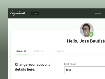 Dashboard - Account settings dashboard profile webapp flat design ui