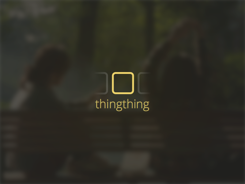 Thingthing - logo logo branding app ios landing page blurry