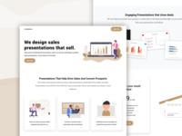 Landing Page ux ui presentation design user inteface landing page