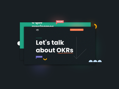 Let's talk about OKRs landingpage landing page design digital ui web design