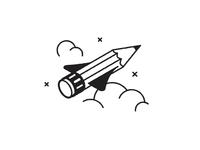 Pencil Rocket 🚀