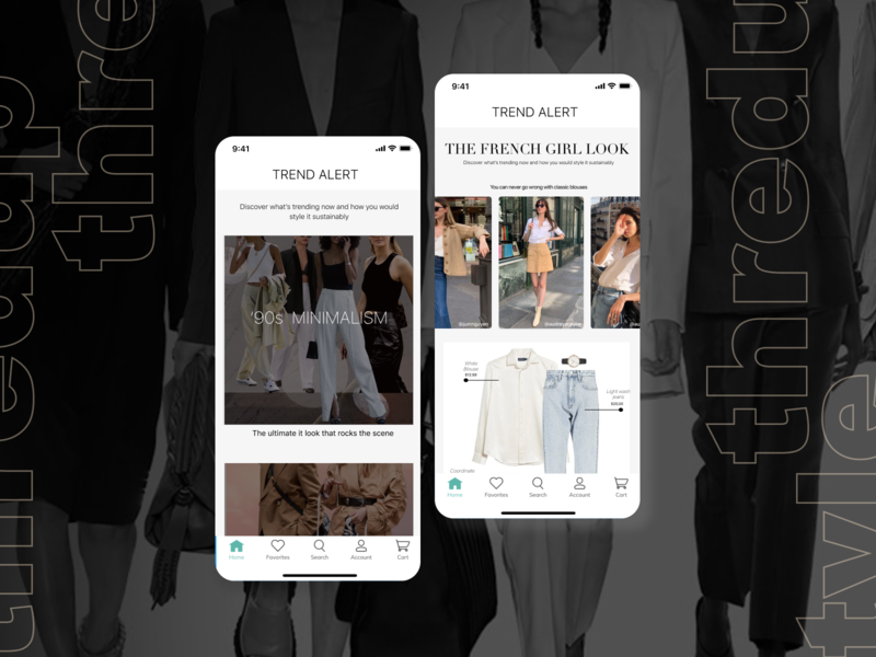 ThredUP Styling Guide Feature color typography ux ui branding mockup fashion product design ux design ui design thredup mobile app